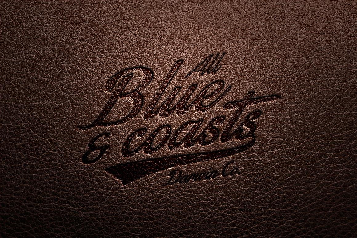 Leather Engraved Logo Design