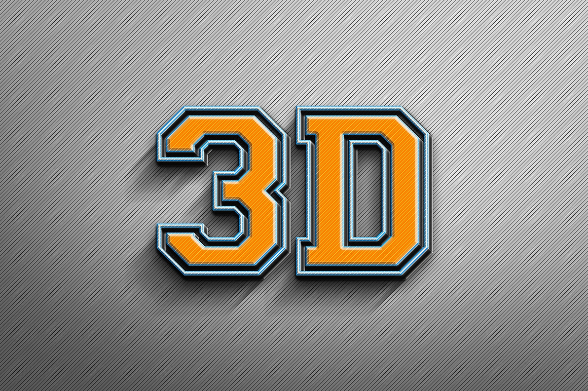 3D Text Presentation Design