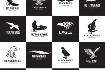 Free Inspiring Eagle Logo Design Mockup in PSD