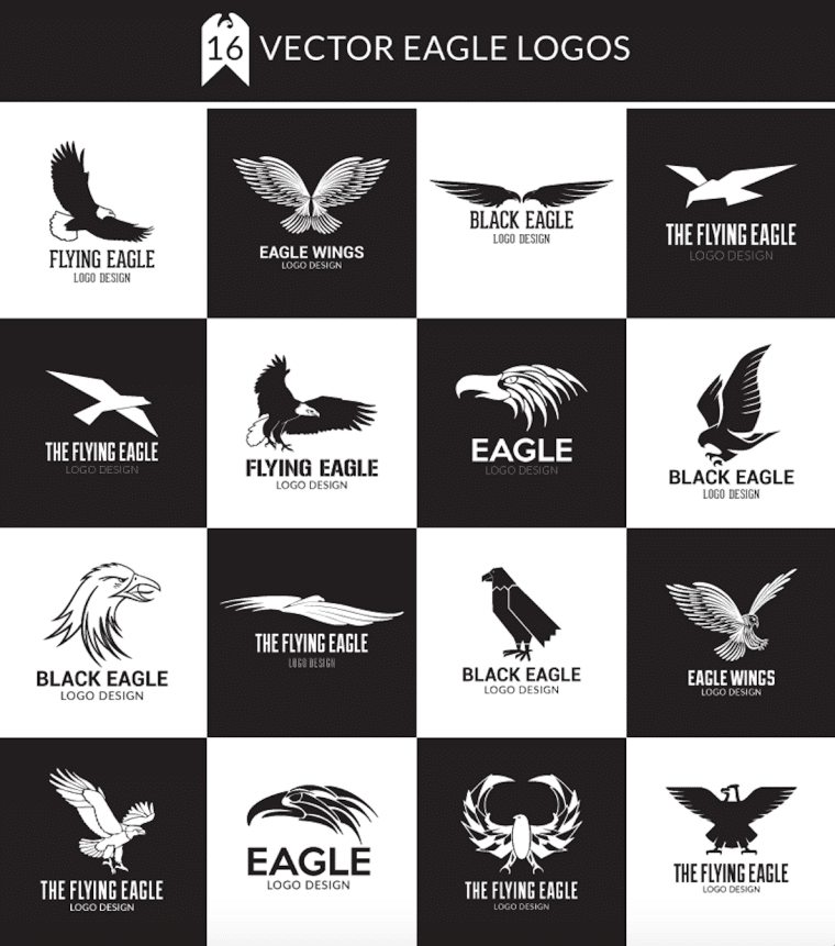 Inspiring Eagle Logo Design