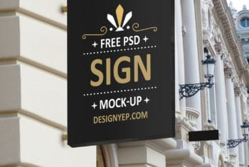 Free Shop Sign Mockup Available in PSD Format