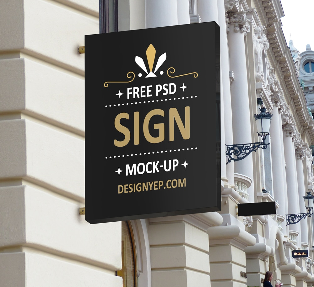 Shop Sign Mockup Template Download For Free