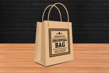 Useful Shopping Bag PSD Mockup Available For Free