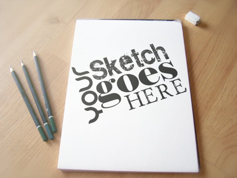 Blank Tall Sketchpad Design