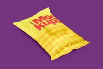 Colorful Snacks Packaging PSD Mockup