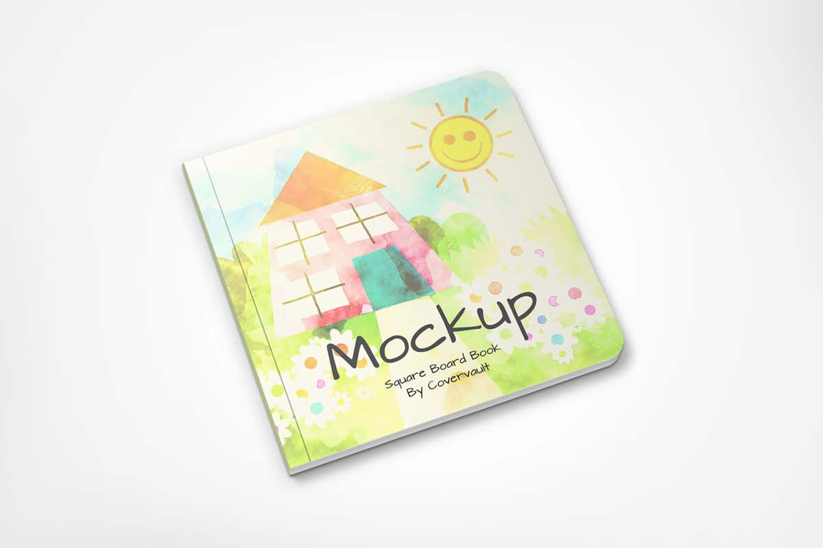 Children's Board Book PSD Mockup Download For Free ...