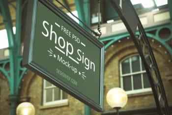 Free Store Sign Mockup Available in PSD Format