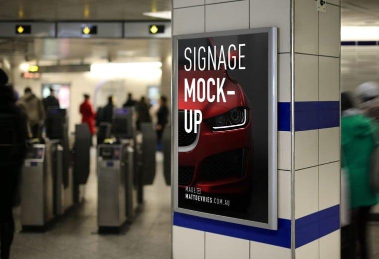 Subway Station Signage Design