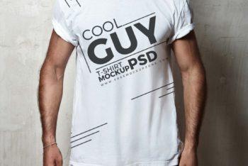 Free Male T-shirt Mockup – Fashion Meets Usefulness