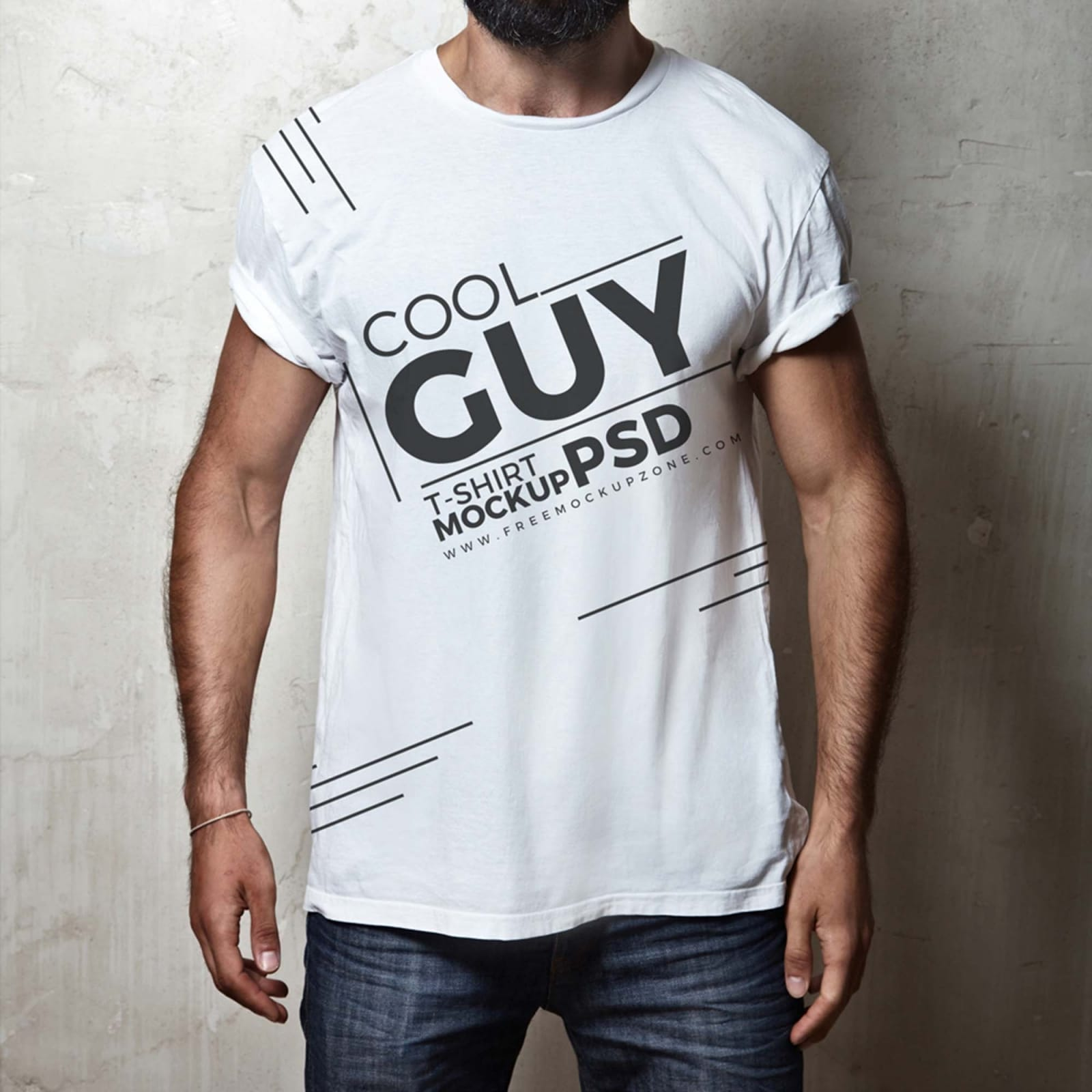 Male T-shirt Mockup Available in PSD Download For Free ...