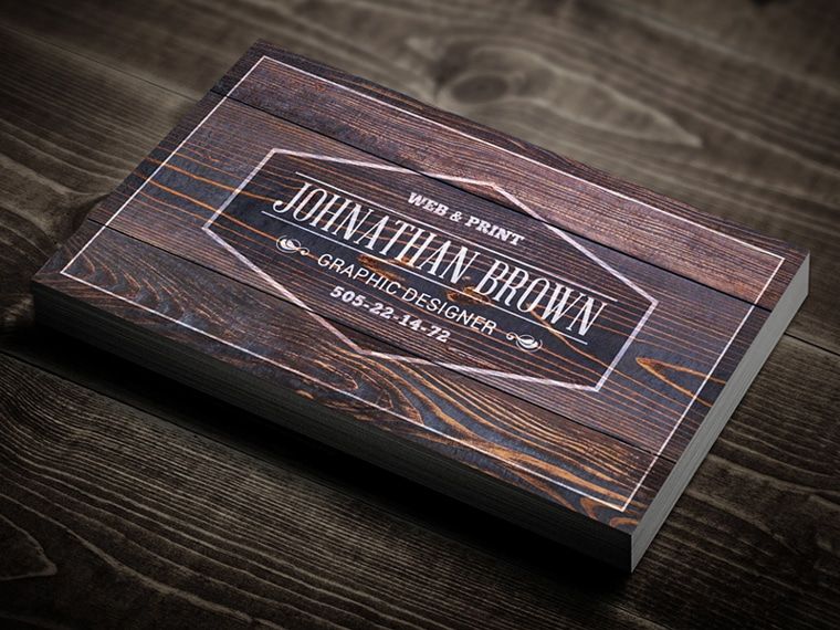Classy Wooden Business Card