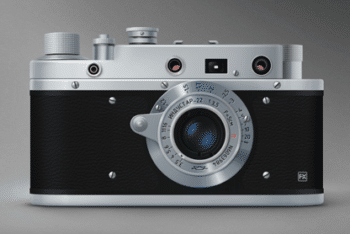 Free Russian Vintage Film Camera Mockup in PSD