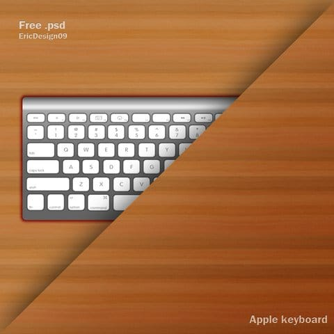 Apple Keyboard Plus Wood Surface