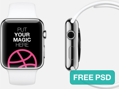 Apple watch PSD Template Design for Free