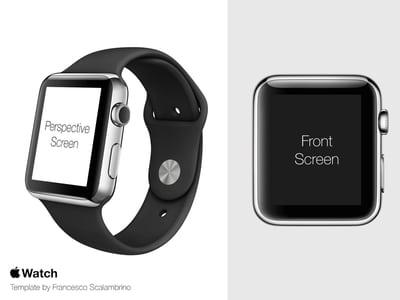 Apple watch PSD Template Design Free