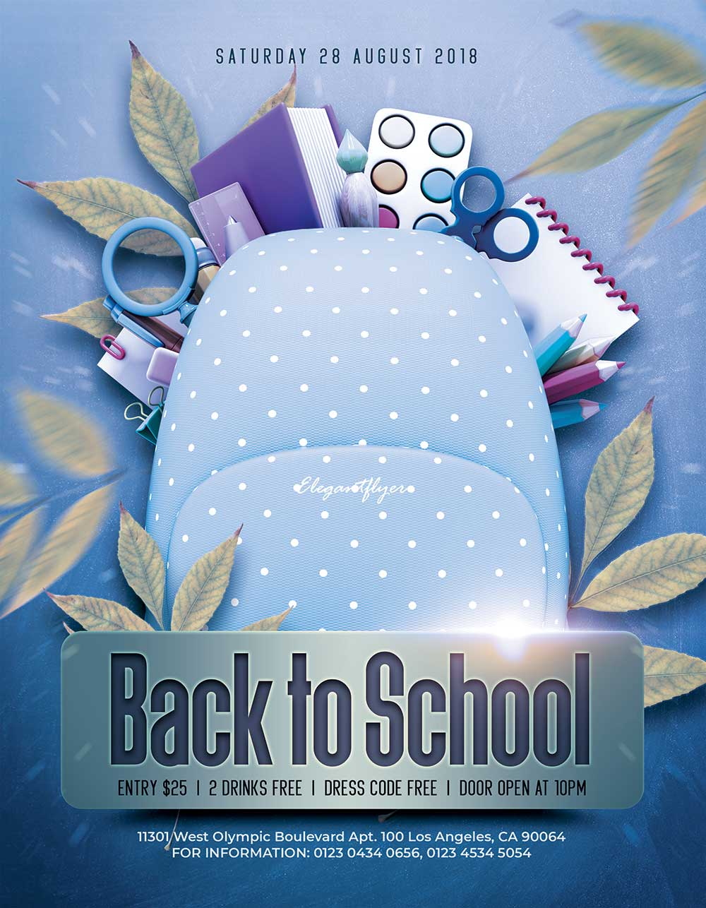 free back to school flyer mockup