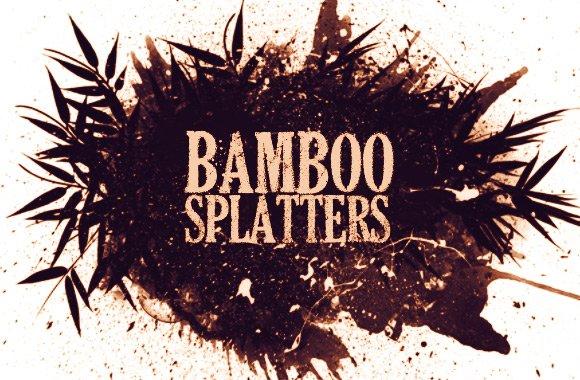 Bamboo Brush Spatter Logo