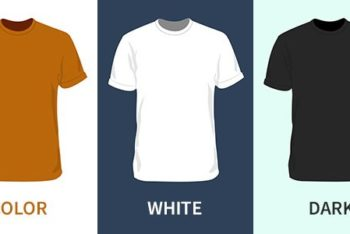 Free Blank Shirt Vector Designs Mockup in PSD