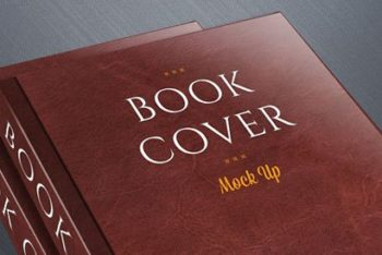 Free Hard Book Cover Design Mockup in PSD