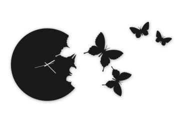 Free Butterfly Wall Clock Design Mockup in PSD
