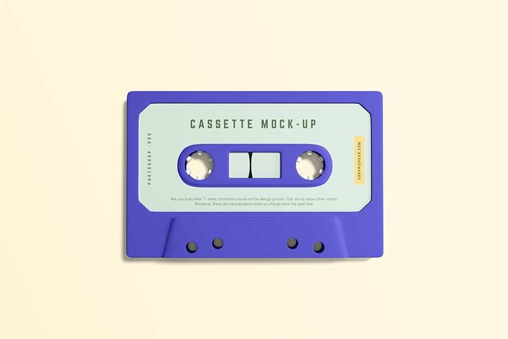 free cassette tape mockup