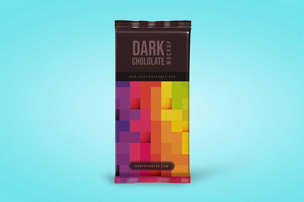 chocolate bar packaging mockup free psd