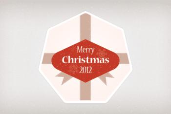 Free Heartwarming Christmas Badge Design Mockup in PSD