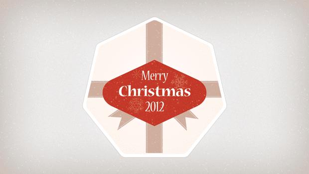 Heartwarming Christmas Badge Design