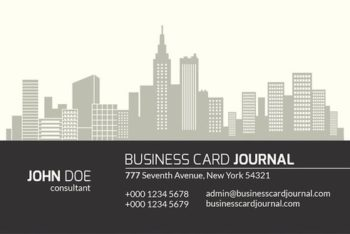 Free Real Estate Business Card Mockup in PSD