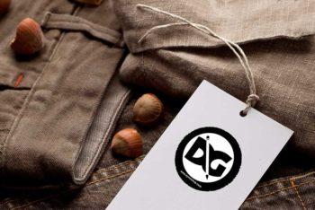 Clothing Tag PSD Mockup