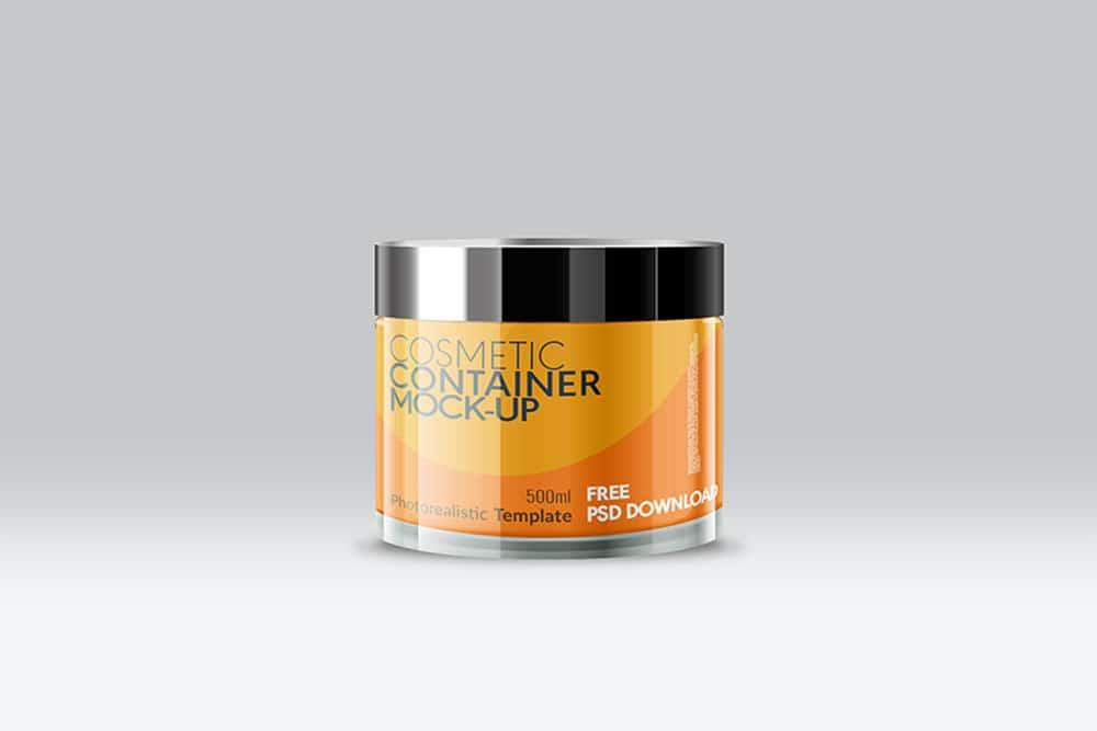 cosmetic jar packaging mockup