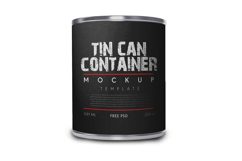 cylindrical can mockup