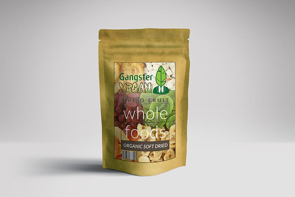 dried fruit bag pouch mockup