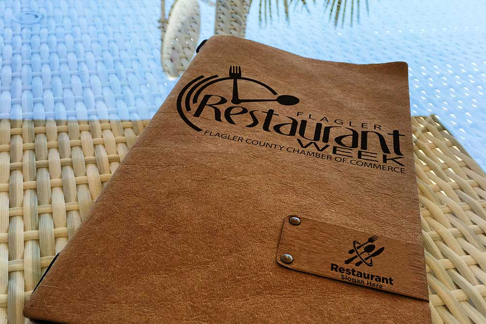 eco leather menu mockup