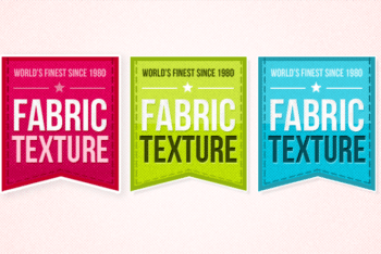 Free Fabric Texture Badges Design Mockup in PSD