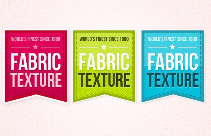 Fabric Texture Badges Design