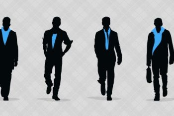 Free Fashionable Men Silhouettes Mockup in PSD