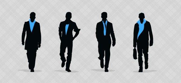 Fashionable Men Silhouettes