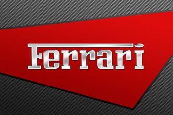 Free Shiny Ferrari Logo Design Mockup in PSD