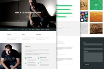 Free Focal Resume Design Theme Mockup in PSD