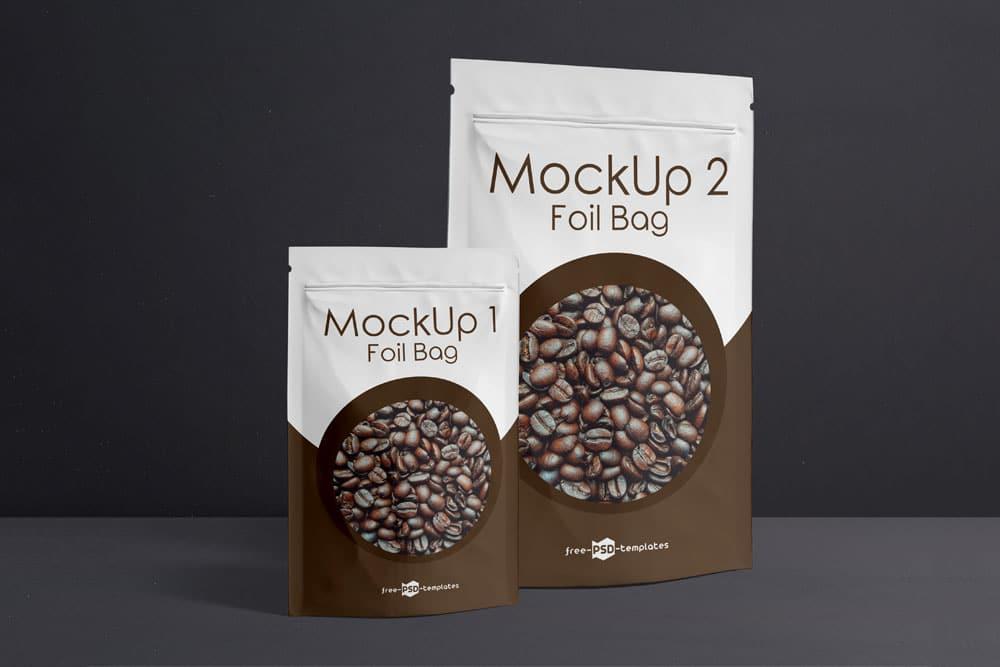free foil bag mockup