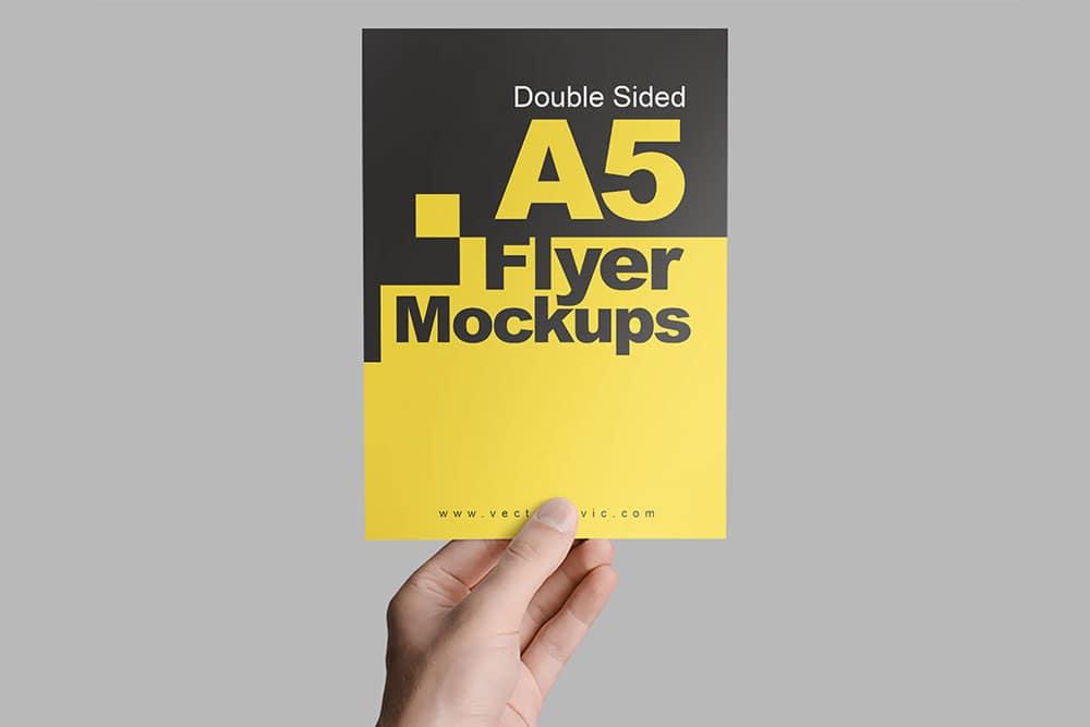 a5 flyer psd mockup