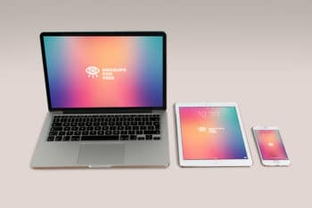 Free Apple Products Mockup in PSD