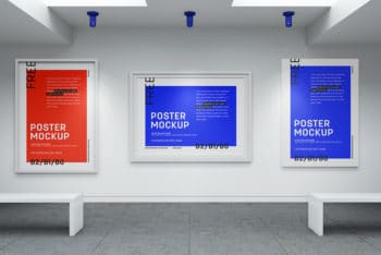 Free Art Gallery Mockup In PSD
