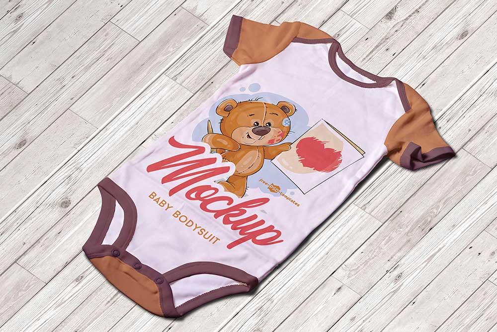 free baby bodysuit mockup