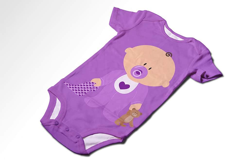 free baby onesie mockup