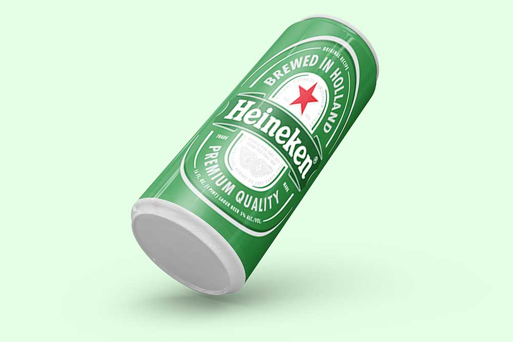 free beer can mockup