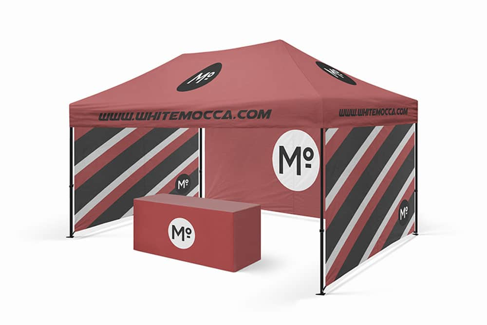 free booth tent mockup