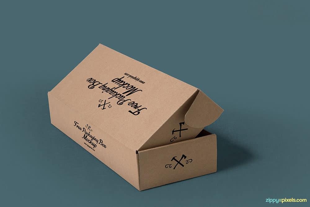 free rectangular box mockup