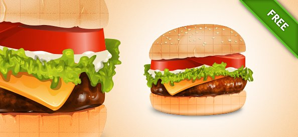 Illustrated Cheese Burger